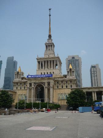 City Hotel Shanghai: old exhibition center in walking distance just down the street