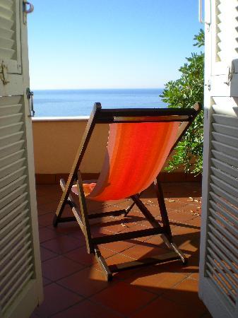 Hotel Ca'Ligure : Unser Blick auf das Meer!!!