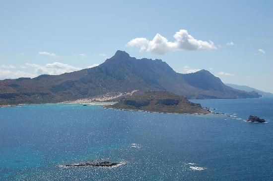 Balos lagoon view from Gramvousa fortress