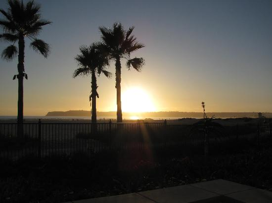 Beach Village at The Del: A beautiful California sunset from our room