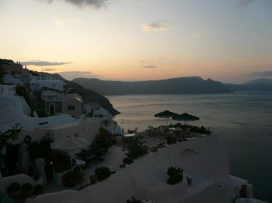 Ifestio Villas: Our first glimpse of the Caldera upon our 7am arrival!!