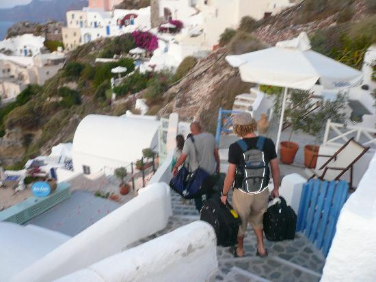 Ifestio Villas : Heading down the stairs upon arrival