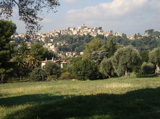 Cagnes-sur-Mer, France: view from Renior's house looking toward the Chateau