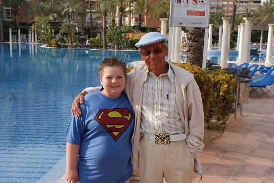 Sol Pelícanos Ocas: my little boy with Mel from tv series Benidorm