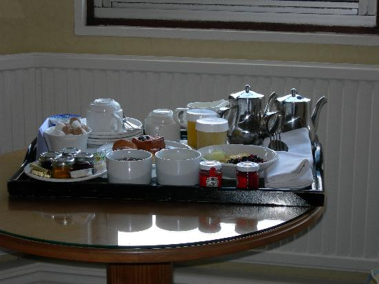 The Oakley Court: our breakfast tray