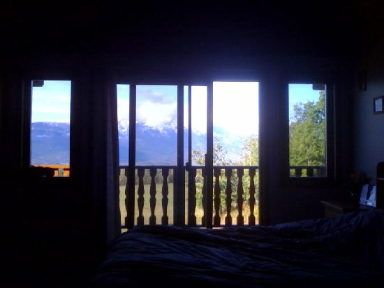Smithers Driftwood Lodge: view from our room, the Eagle's Nest