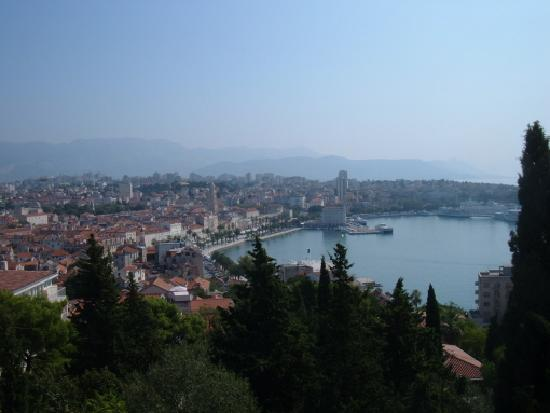 Marjan Park: Split from the terrace at the top of the steps