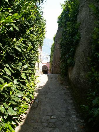 Villa Amore: Now you can see why it was hard for us to stumble upon.  The pathway was twice this long and cur