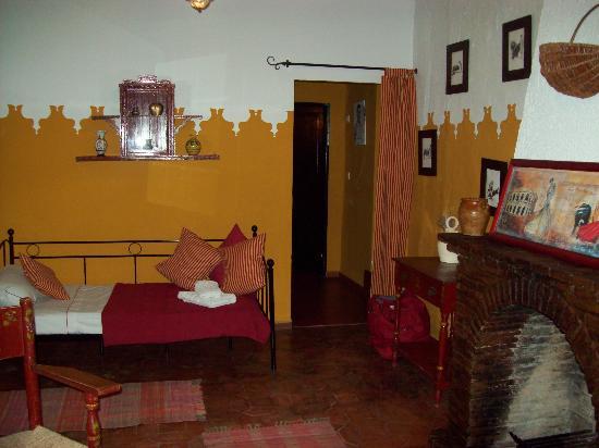 Hacienda el Huerto: petit salon de la suite