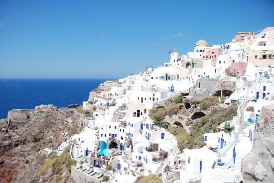 Art Maisons Luxury Santorini Hotels Aspaki & Oia Castle: バルコニーからの景色