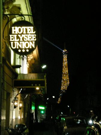 Elysees Union Hotel At Night Picture Of Hotel Elysees