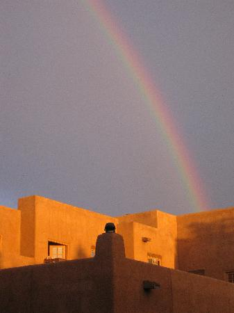 The Hacienda and Spa at Hotel Santa Fe: Rainbow over Hotel Santa Fe