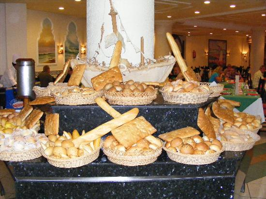 Sea Gardens: Just a sample of the many types of bread on offer in the restaurants
