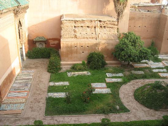 La Sultana Marrakech: Looking down into the Sadian tombs from the rooftop terrace