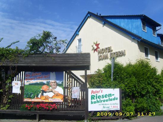 Werben, Duitsland: Blick auf das Hotel von der Straßenseite