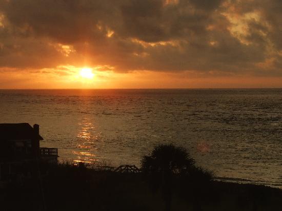 Sunrise taken from top floor of Ocean Lodge