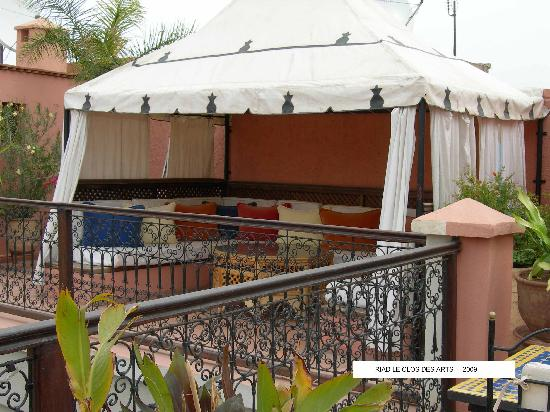 Riad le Clos des Arts: La Tenda Berbera sul tetto a terrazza