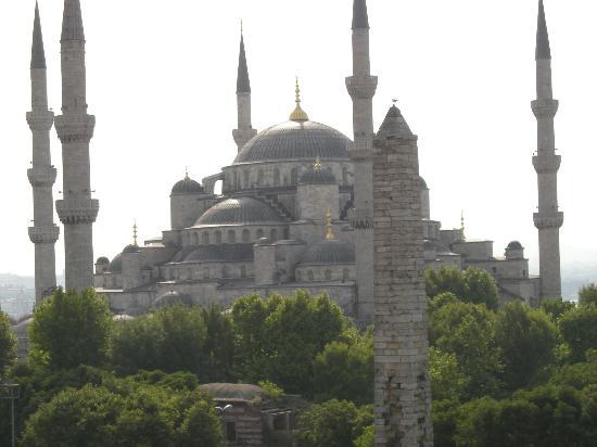 Hotel Fehmi Bey: 屋上からのブルーモスク1
