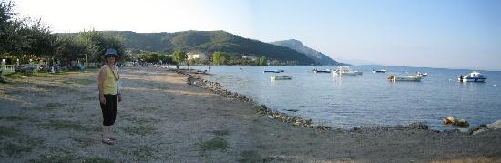 Sea Bird Hotel: Moraitica beach on a dull morning in September.