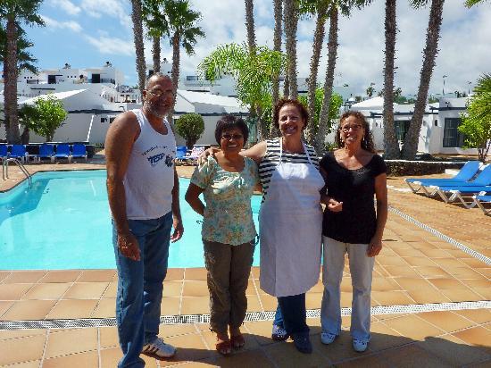 Mar Azul Playa: Rafael (maintenance), Lily (Manager), Ellie (Pool Bar) & Angostia (Cleaner)