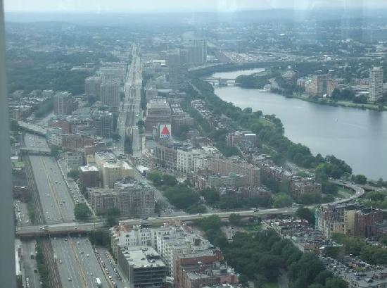Kenmore Square from the top of the Prudential Center