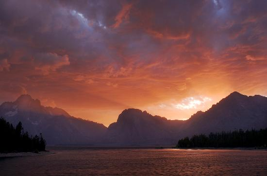Colter Bay RV: Colter Bay Sunset