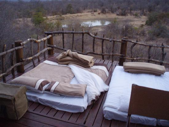 Garonga Safari Camp: View of the Sleep Out Deck at Garonga