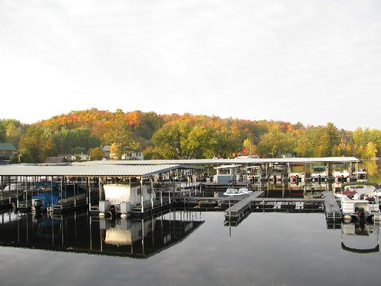 Gauthier's Saranac Lake Inn and Hotel: view from deck of marina