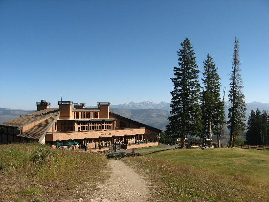 Spruce Saddle Lodge, as seen from the Centennial Lift area.