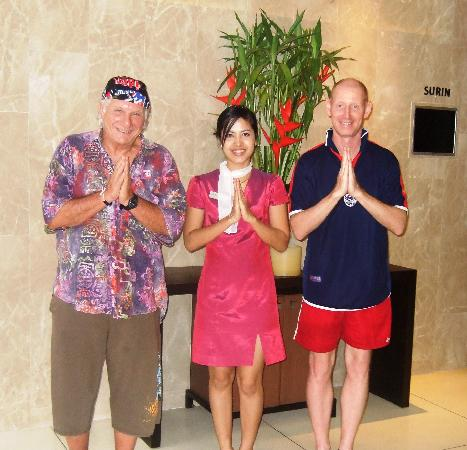 "Novotel Phuket Surin Beach Resort. : One of the excellent staff greeting ""Sawadee Krub"""