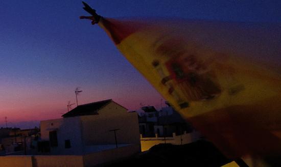 Easy Nerja Hostel : dawn on the roof terrace