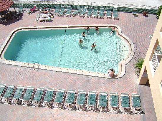 View of pool from condo #402  Holiday Villas III