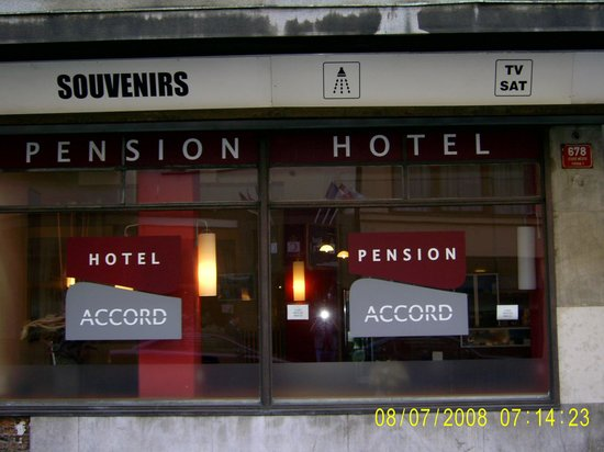 Accord Pension Prague: Shop Front?