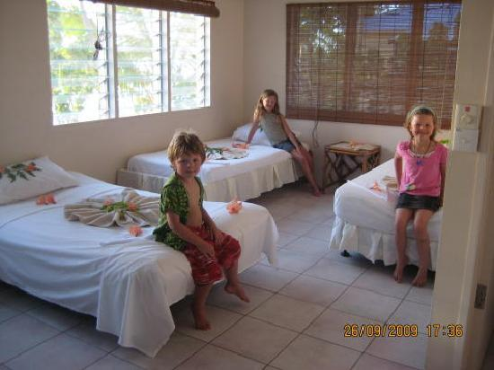 Savai'i, Samoa: The kids beds.