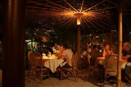 Poppies Restaurant : The restaurant is lovely in a lush garden setting.