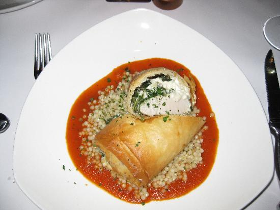 Cafe Esin: Filo wrapped chicken breast