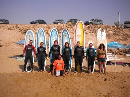 Agadir Beach: after the surf lessons