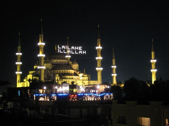 Blue Mosque view from Hotel Park roof