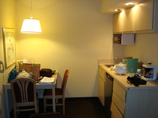 Quality Inn & Suites: the kitchenette