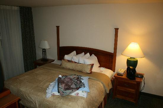 Staybridge Suites Atlanta - Perimeter Center East: main bedroom with king and full bath