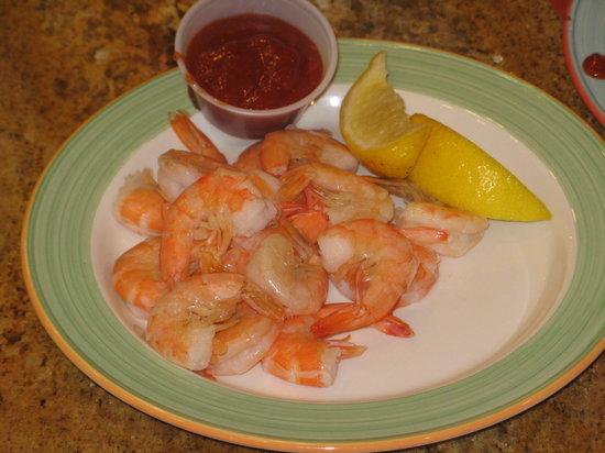 Garden Buffet: shrimp cocktail