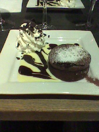 Le Cap: dessert, moëlleux au chocolat