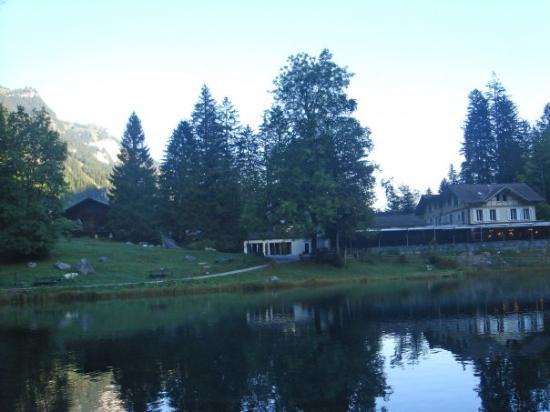 Blausee AG - Restaurants Hotel Forellenzucht: S Hotel und en fantastischi Ussicht uf d Berge... herrlich