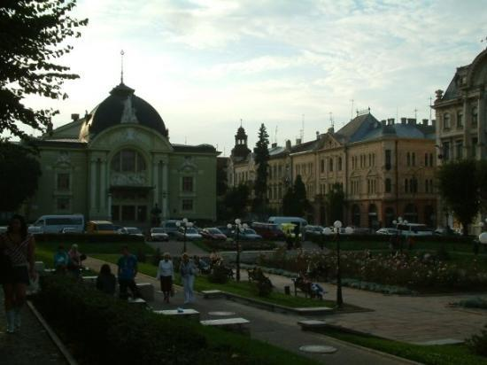 Chernivtsi Drama Theatre: Here is the famous Opera House in Opera Square in Chernivtsi.