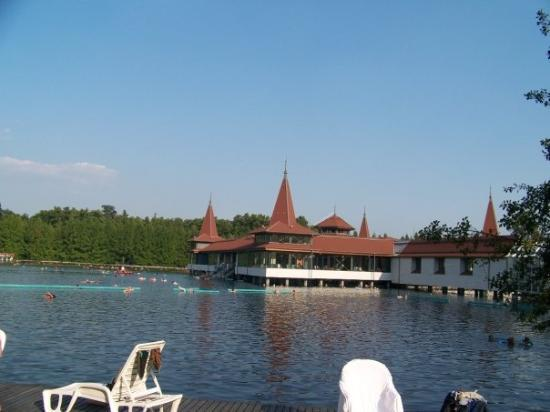 Thermal Lake of Hévíz: Thermal waters of Heviz, full of old people, but nice and relaxing