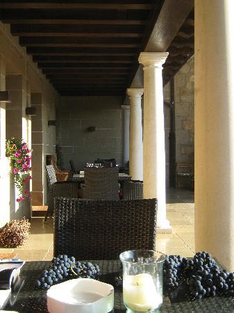 Hospederia del Vino: sit on the terrace with a glass of wine