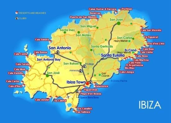 Cala Tarida, Ισπανία: Mapa de Ibiza