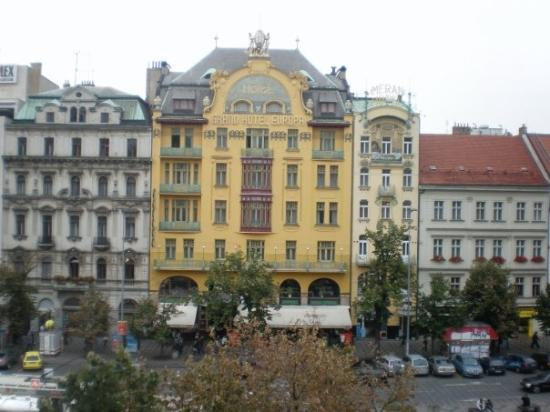 Hotel Evropa: View from our window 1