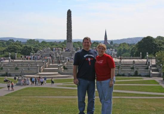 Me and April at Vigeland Sculpture Park in Oslo, Norway. (2006)