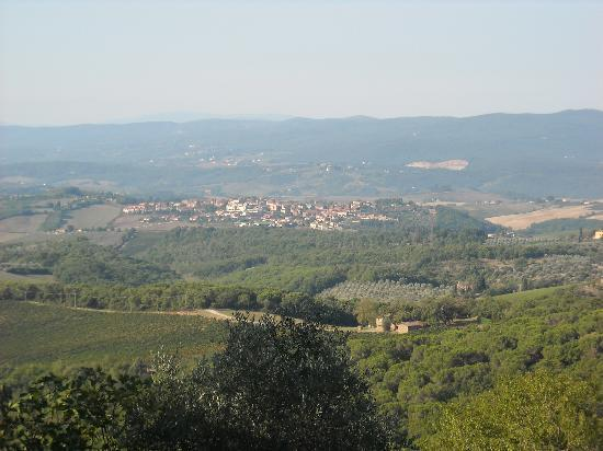 Villa Astreo: Tuscan landscape from villa